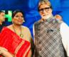 Anusha Srinivasan Iyer with Amitabh Bachchan