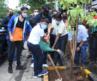 Ajay Devgn, Yug Ajay Devgn, Vatsal Sheth, Vishvas Mote and Shaan Lalwani at the BMC's Be A Tree Parent MEGA Vriksha Campaign.